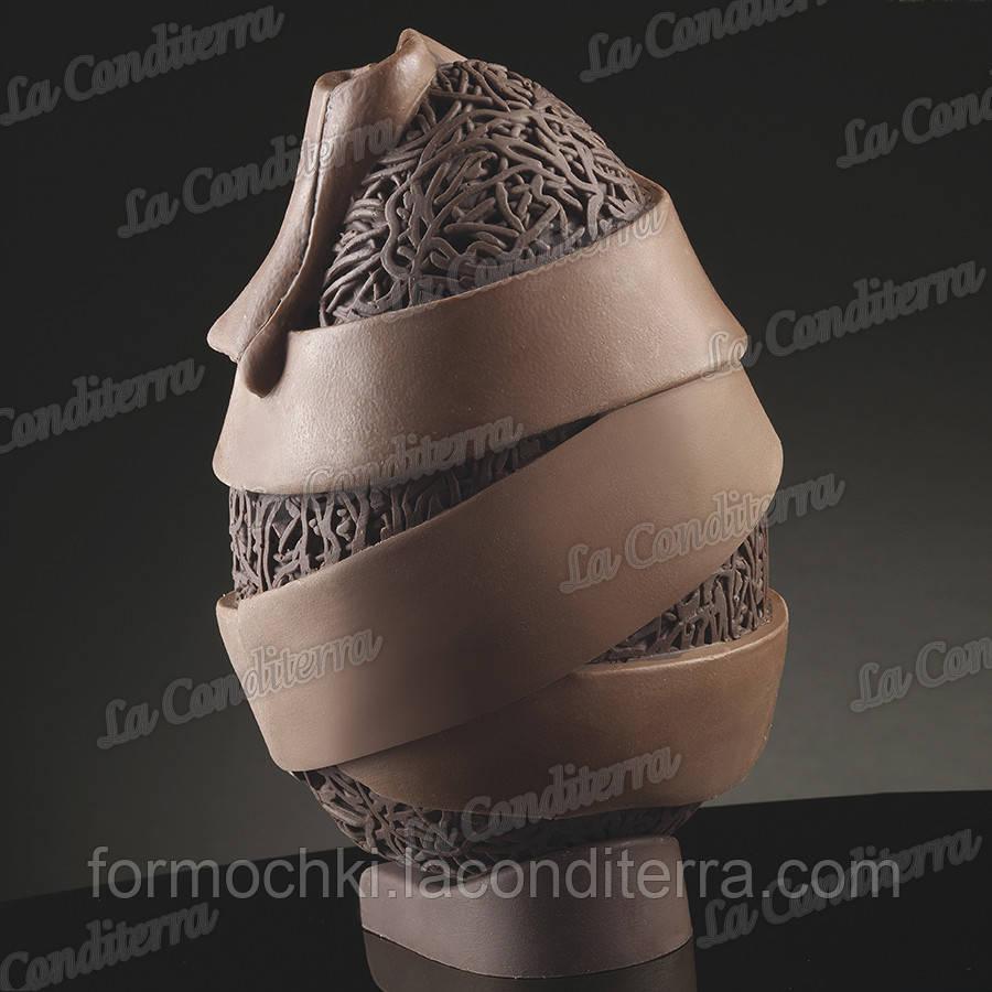 Силиконовая форма для шоколада Decosil (Яйцо с лентой)
