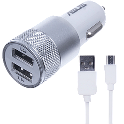 АЗУ Asus 2USB 2in1 (АЗУ 3.1A + MicroUSB Cable) White original