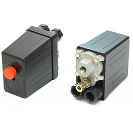 Автоматика для компрессора(прессостат), редукторы,якоря и статора.