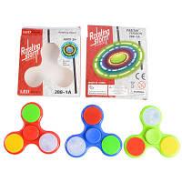 Hand Spinner яркий, спиннер светящийся, игрушка антистресс, тренажер 288-1A, Б343
