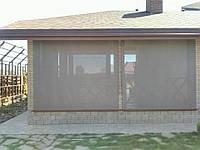 Рулонные шторы наружные, защита террасы от ветра, дождя, снега, производство Украина