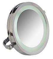 Зеркало косметическое настольное увеличительное Axentia с LED подсветкой 3х