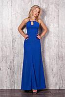 Непоторимое длинное платье насыщенного синего цветаразмер:42,44,46,48