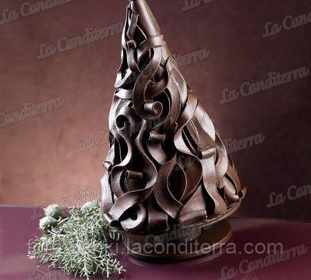 Силиконовая форма для шоколада (Пирамида дерево)