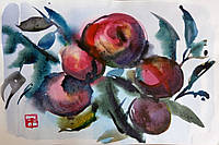 """""""Яблоки"""", акварель, натюрморт, 2015 г., картина , подарок, живопись,Марина Ляшенко-Тарасовец"""