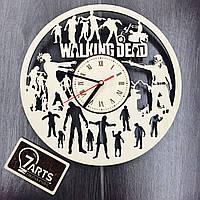 Бесшумные настенные деревянные часы «Ходячие мертвецы»