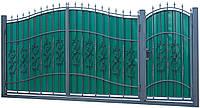 Кованые ворота и калитка ВД-13 с ПРОФНАСТИЛОМ