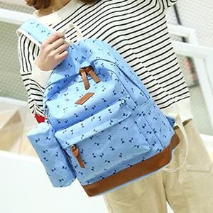 Школьный рюкзак 2 в 1 с рисунком жирафа