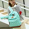 Школьный рюкзак 2 в 1 с рисунком жирафа, фото 5