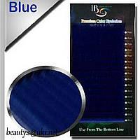 Ресницы I-Beauty(20 лент),синие,микс D-0,10 8-14мм