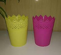 Пластиковая подставка для кистей, D 9 см (Цвета на выбор)