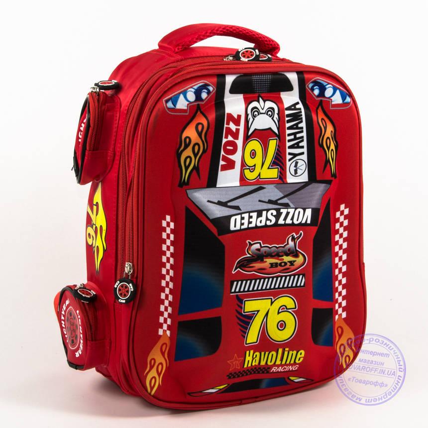 Школьный рюкзак для мальчика 3D машина - красная - 126, фото 2