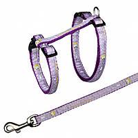 Поводок+шлея Trixie Cat Harness для кошек нейлоновая, 25-44 см, 1.2 м, фото 1