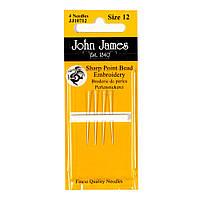 Short Beading №12 (4шт) Набор коротких бисерных игл John James (Англия)  JJ10712