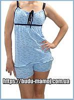 Пижама с майка шортиками для беременных и кормящих хлопок