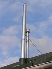 Труба-сэндвич дымоходная (термо) 1 метр 0,5 мм н/оц AISI 304, фото 3