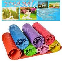 Коврик для фитнеса/йога мат 1088 (гимнастический коврик), 6 цветов: 190х60см, толщина 8мм