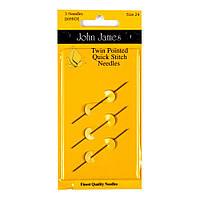 Twin Pointed Quick Stitch №22/24/26 (3шт) Набор двусторонние гобеленовых игл John James (Англия) JJ698DAST
