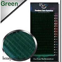 Ресницы I-Beauty(20 лент),зеленые,микс СС-0,07 8-14мм
