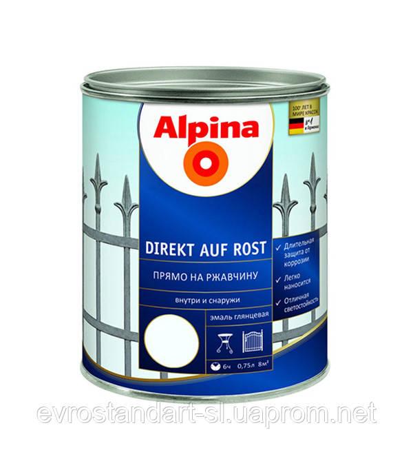 Грунт-эмаль Direkt auf Rost  коричневый 2.5 л Alpina