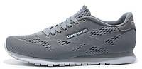 Мужские кроссовки Reebok Runner Tech Mesh Flat Grey (Рибок) серые