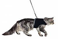 Поводок+шлея Trixie Cat Soft Harness для кошек нейлоновая, 24-42 см, 1.2 м, фото 1