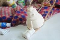 Детские товары для творчества. Колокольчик снеговик с ногами.