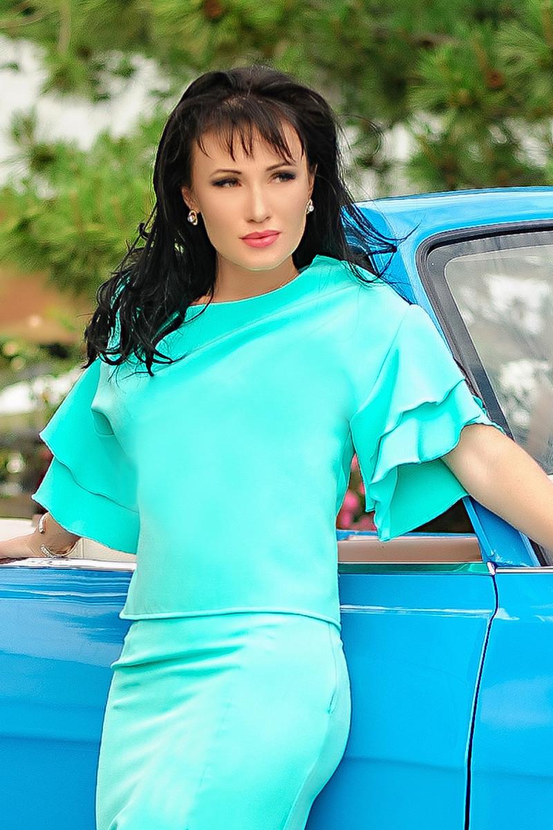 "Летняя блузка ""Элен"", ментол"