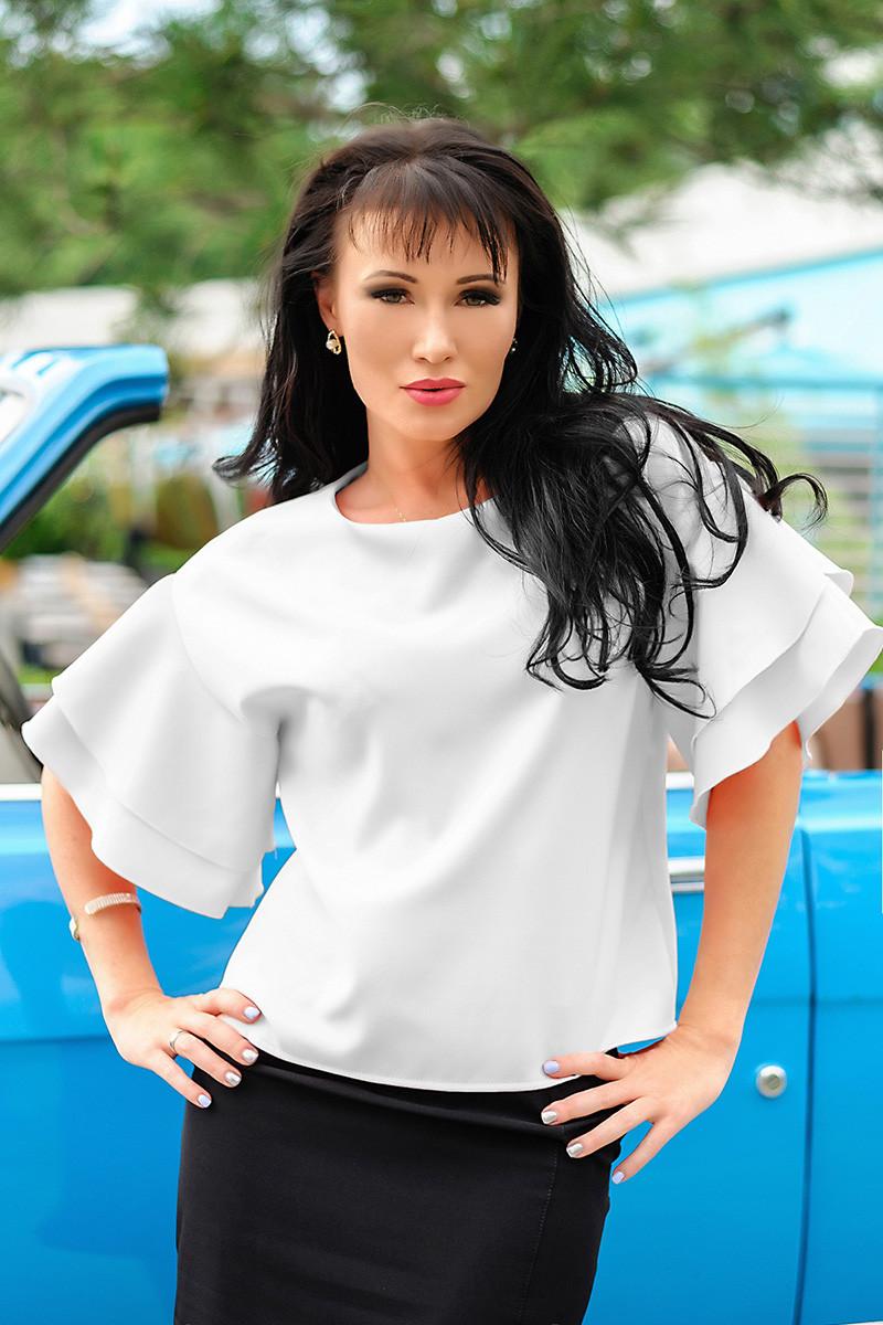 """Белая блузка для офиса """"Элен"""""""