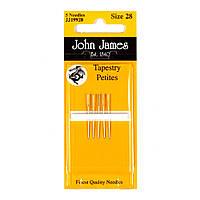 Tapestry Petite №24 (6шт) Набор коротких гобеленовых игл John James (Англия) JJ19924