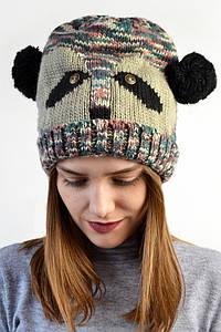 Шапка Панда бежевая