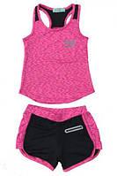 Спортивный костюм на девочку для закрытого зала, тенниса, летний. Возраст 10-14 лет.