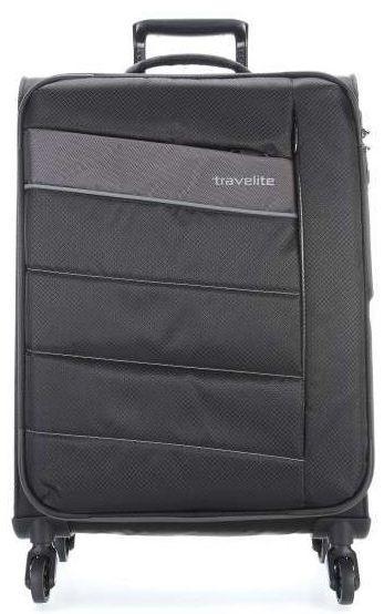Большой чемодан расширенный на 95/109 л, на 4-х колесах Travelite Kite L TL089949-01, черный