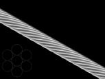 Трос стальной 1х7 цб DIN3052
