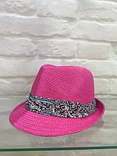 Шляпа женская розовая летняя брендовая Италия