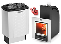 Электрокаменки VS дровяные печи: что выбрать?