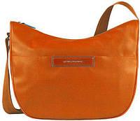 Наплечная стильная женская сумка с чехлом для iPad mini Piquadro AKI/Orange, BD3291AK_AR оранжевый