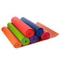Коврик для фитнеса/йога мат 1184 (гимнастический коврик), 6 цветов: 172х61см, толщина 6мм