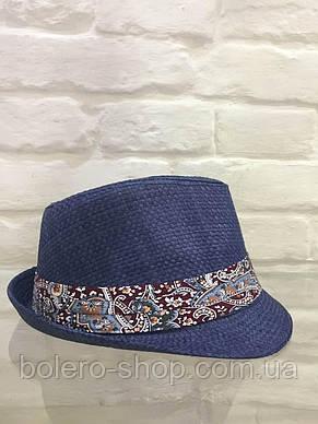 Шляпа женская синяя летняя брендовая Италия , фото 2
