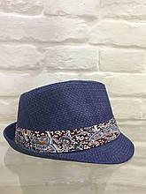 Шляпа женская синяя летняя брендовая Италия