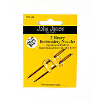 Heavy Embroidery (2шт) Набор игл для вышивки гладью пряжей John James (Англия) JJ68898