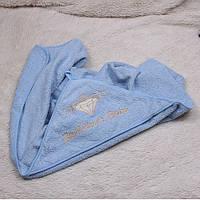 """Детское полотенце с уголком """"Brilliant"""" (голубое)"""