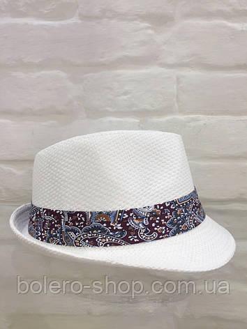 Шляпа женская белая летняя брендовая Италия , фото 2