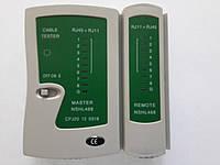 Тестер для локальной сети 468 RJ45/RJ12 (батарейка в комплекте)