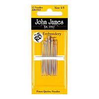 Embroidery №1/5 (12шт) Набор игл для вышивки гладью John James (Англия) JJ13515