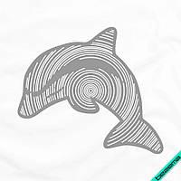 Аппликация, наклейка на ткань Дельфин [6 размеров в ассортименте] (Тип материала Матовый)
