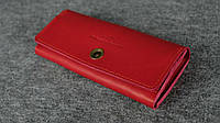 Кожаный кошелек на 12 карточек | Италия Коралл, фото 1