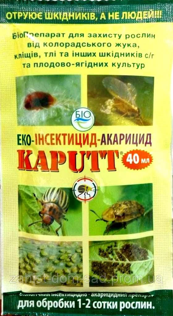 Капутт  (40мл) - эффективная борьба с вредителями : тля, клещ, блошка