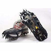 Ледоступы для обуви «18 шипов» (L) чёрные р.40-46