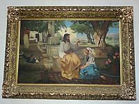 """""""Иисус и самаритянка"""", дореволюционная копия с картины Г.Семирадского, 1910-е годы"""